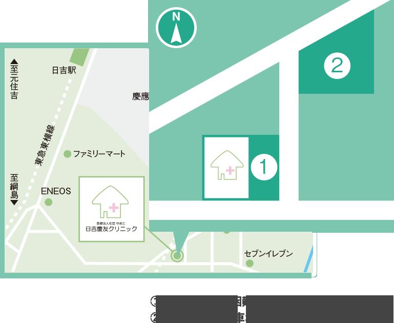 神奈川県横浜市港北区日吉 5-5-17の地図
